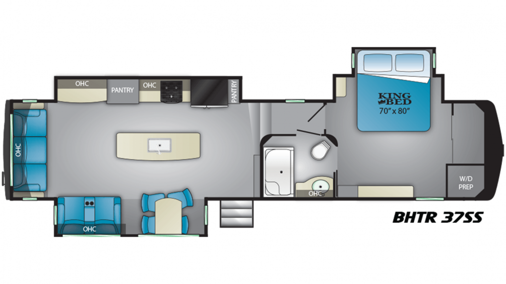 2019 Bighorn Traveler 37SS Floor Plan Img
