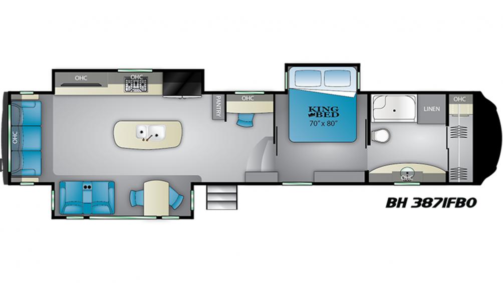 2019 Bighorn 3871FBO Floor Plan Img