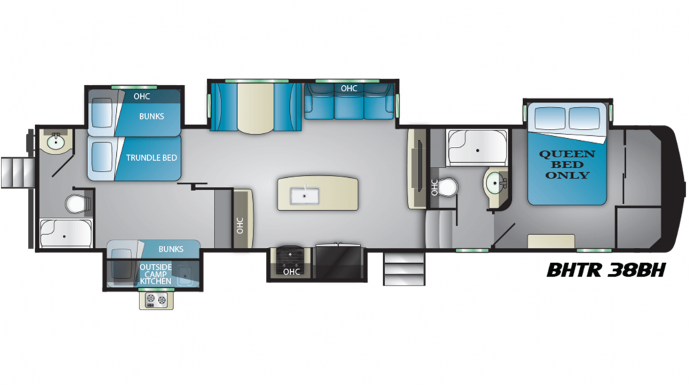2019 Bighorn Traveler 38BH Floor Plan Img