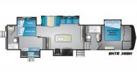 2019 Bighorn Traveler 38BH Floor Plan