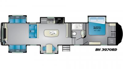 2019 Bighorn 3970RD Floor Plan Img