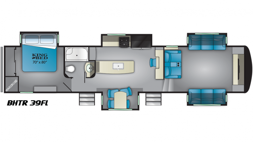 2019 Bighorn Traveler 39FL Floor Plan Img