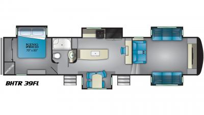 2019 Bighorn Traveler 39FL Floor Plan Img