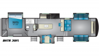 2019 Bighorn Traveler 39FL Floor Plan