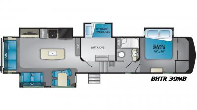 2019 Bighorn Traveler 39MB Floor Plan Img