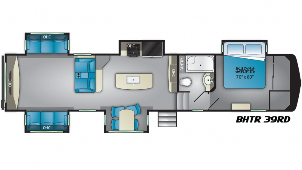 2019 Bighorn Traveler 39RD Floor Plan Img