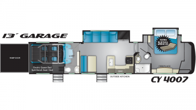 2019 Cyclone 4007 Floor Plan Img