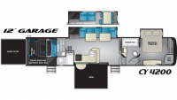 2019 Cyclone 4200 Floor Plan