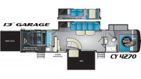 2019 Cyclone 4270 Floor Plan
