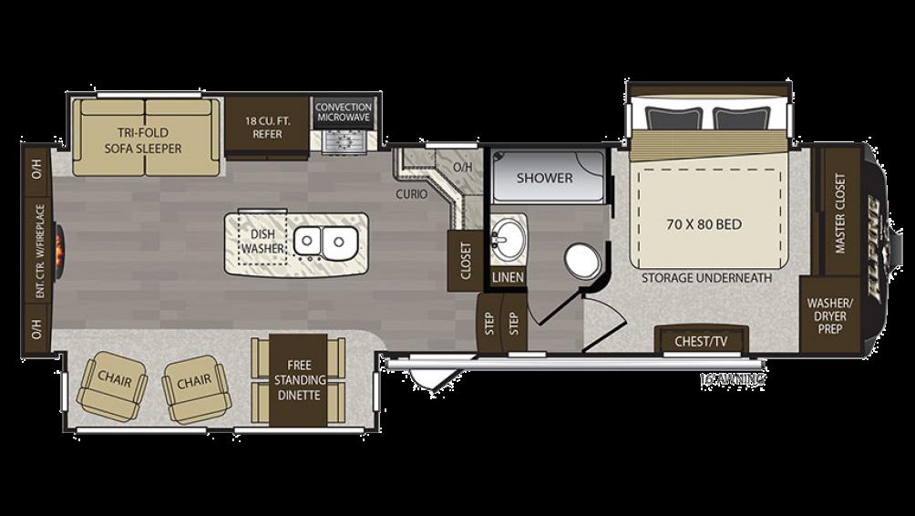 Alpine 3010RE Floor Plan - 2017