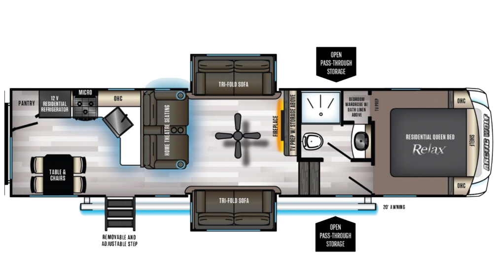 Arctic Wolf 311ML Floor Plan - 2020