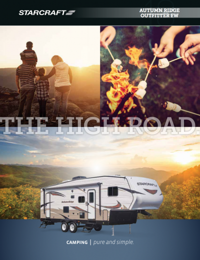 2018 Autumn Ridge Outfitter Brochure Cover