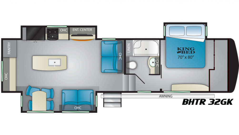 Bighorn Traveler 32GK Floor Plan - 2020