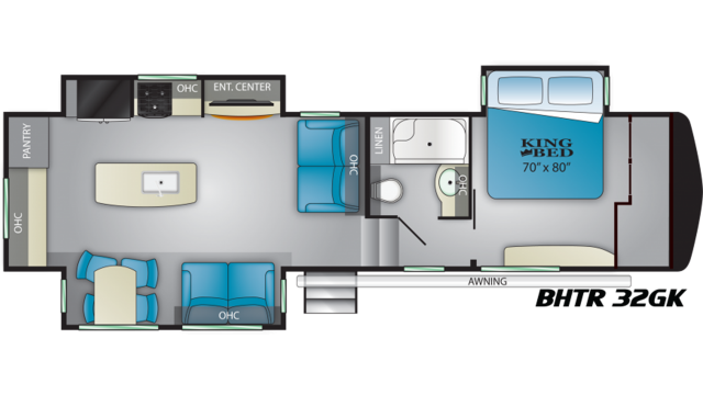 2020 Bighorn Traveler 32GK Floor Plan