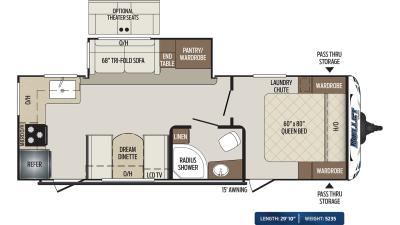 Bullet 248RKS Floor Plan - 2020