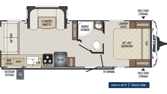 2020 Bullet 257RSS Floor Plan
