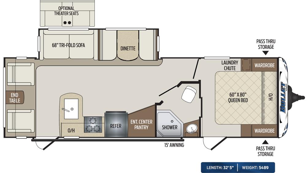 Bullet 269RLS Floor Plan - 2020