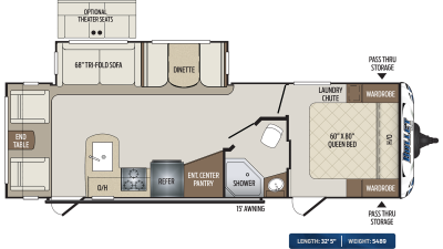 Bullet 269RLS Floor Plan - 2020