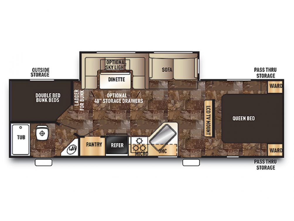Cherokee 274DBH Floor Plan - 2015