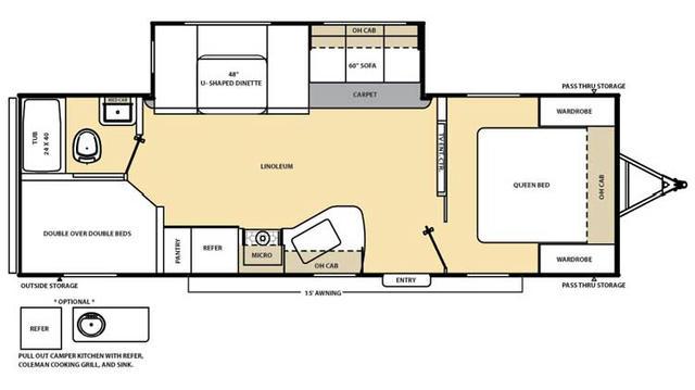 2017 Catalina 273DBS Floor Plan