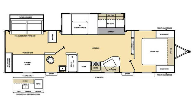 2017 Catalina 323BHDS CK Floor Plan