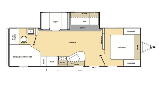 2016 Catalina SBX 261BHS Floor Plan