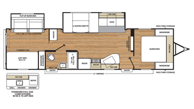 2017 Catalina SBX 321BHDS CK Floor Plan