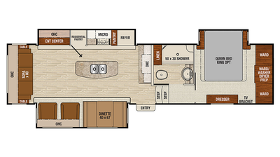 2017 Chaparral 336TSIK Floor Plan