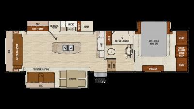 2018 Chaparral 336TSIK Floor Plan