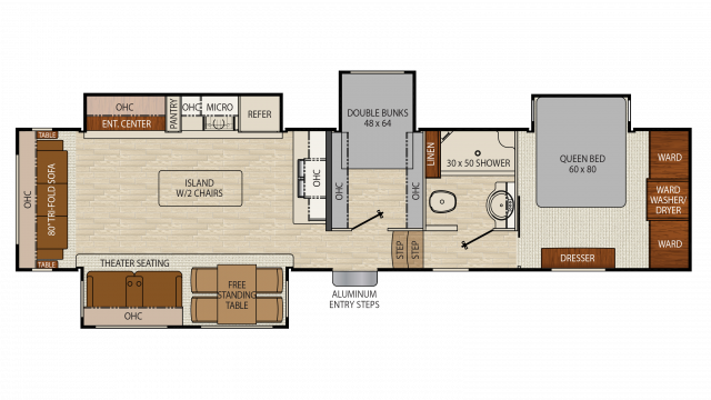 2018 Chaparral 360IBL Floor Plan
