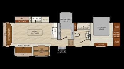 2018 Chaparral 360IBL Floor Plan