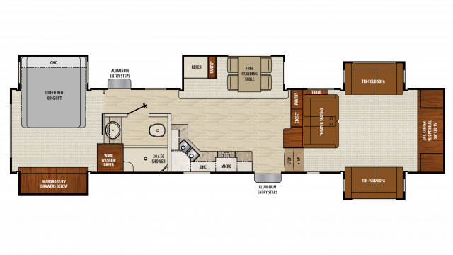 2018 Chaparral 370FL Floor Plan