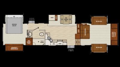 2018 Chaparral 370FL Floor Plan