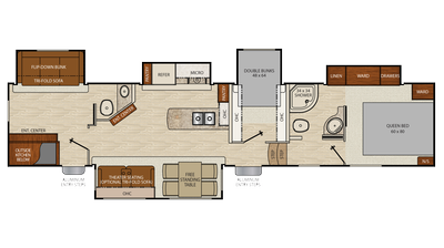 2018 Chaparral 371MBRB Floor Plan