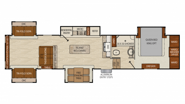 2018 Chaparral 381RD Floor Plan