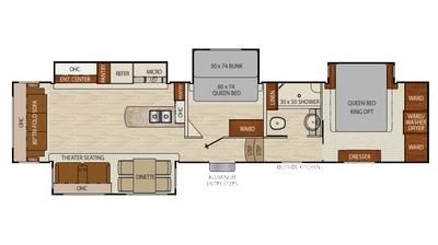2018 Chaparral 390QSMB Floor Plan