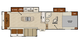 2017 Chaparral Lite 30RLS Floor Plan