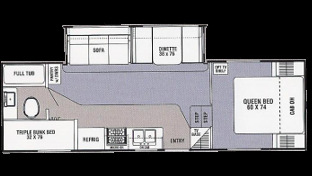 2004 Spirit of America 525TBS Floor Plan Img