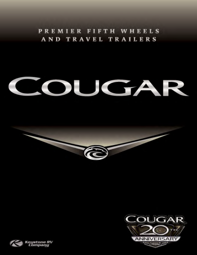 2018 Cougar Brochure Cover