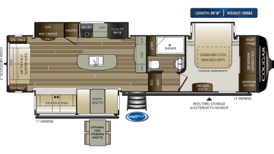 Cougar 315RLS Floor Plan - 2020