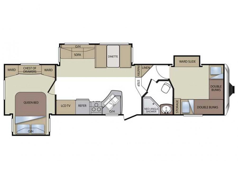 Cougar 322QBS Floor Plan - 2011