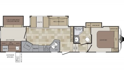 Cougar 330RBK Floor Plan - 2013