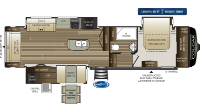 Cougar 338RLK Floor Plan - 2020