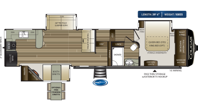 Cougar 362RKS Floor Plan - 2020