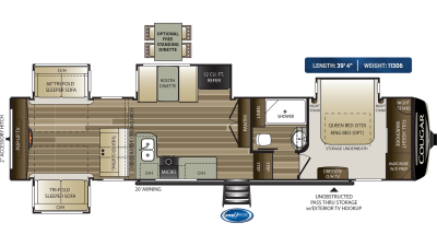 Cougar 366RDS Floor Plan - 2020
