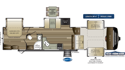 Cougar 367FLS Floor Plan - 2020