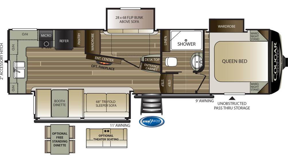 cougar-half-ton-29mbs-floor-plan-2020