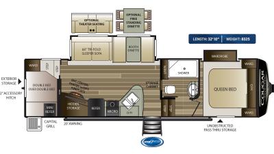 Cougar Half Ton 29RDB Floor Plan - 2020