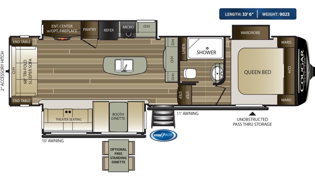 Cougar Half Ton 30RLS Floor Plan - 2020