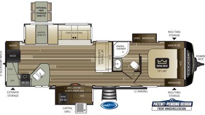 Cougar Half Ton 33MLS Floor Plan - 2020